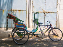 Tricycle or Bike Rikshaw in India Stock Images