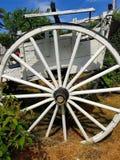 Tricycle blanc sur un traîneau image stock