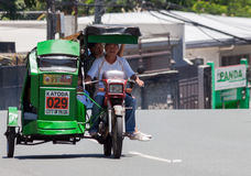 Tricycle cab driver Royalty Free Stock Photos