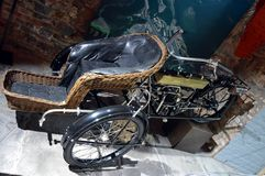 Tricycle of 1913 customization of a motorcycle Royalty Free Stock Image