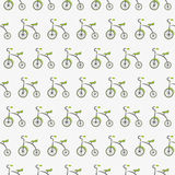 Tricycle cute pattern Royalty Free Stock Image