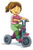 la fille sur un tricycle dessin anim images stock image 20833954. Black Bedroom Furniture Sets. Home Design Ideas