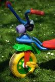 Tricycle dans le jardin illustration stock