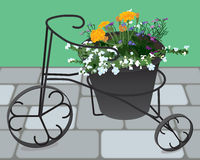 Tricycle Flower Planter Stock Images