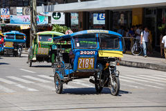 Tricycle motor taxi, Philippines Royalty Free Stock Photos