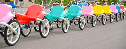 Tricycle at playground Royalty Free Stock Photography