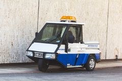 Tricycle police car Stock Photos