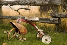 Tricycle rustique Image libre de droits
