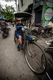 Tricycle (Sam Law) driver waits for customer Royalty Free Stock Photo