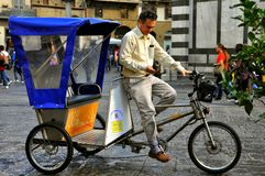 Tricycle taxi Stock Image