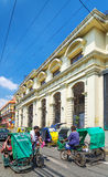 Tricycle taxis in historic intramuros area of manila philippines Stock Photo