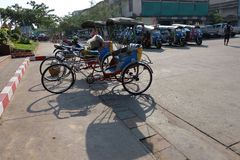 Tricycle thai style Royalty Free Stock Photos