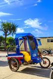 Tricycle in Santa Fe in Bantayan. A tricycle, very popular means of public transport in Philippines, in Santa Fe, Bantayan island Stock Photos