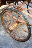 Tricycle wheel. In the country of thailand royalty free stock images