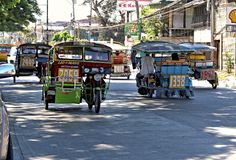 Tricycles, Philippines Images stock