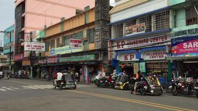 Tricycles ride in The Philippines stock video footage
