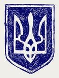 Trident. Emblème de l'Ukraine Photographie stock libre de droits