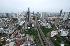Trident of Sathorn Road, Bangkok, Thailand.  Stock Photo