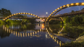 The Tridge in Midland, Michigan Stock Images