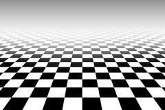Tridimensional chessboard black and white pattern Stock Photo