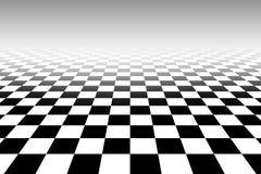 Tridimensional chessboard black and white pattern. Tridimensional chessboard with black and white pattern square wallpaper Stock Photo