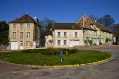 Trie Chateau, França - 14 de março de 2016: a cidade pitoresca imagens de stock royalty free