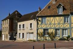 Trie Chateau, França - 14 de março de 2016: a cidade pitoresca imagem de stock