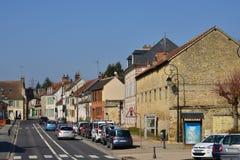 Trie Chateau, França - 14 de março de 2016: a cidade pitoresca fotos de stock royalty free