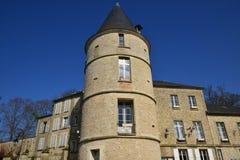 Trie Chateau, França - 14 de março de 2016: a cidade pitoresca fotografia de stock royalty free