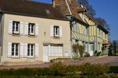 Trie Chateau, France - 14 mars 2016 : la ville pittoresque image stock