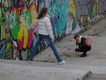 Triebavatara der jungen Mädchen für Soziales Netz Stockfotografie