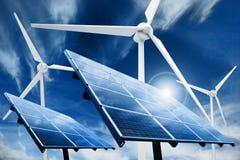Triebwerkanlage der sauberen Energie Stockbild