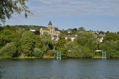 Το γραφικό χωριό του Triel-sur-Seine Στοκ εικόνα με δικαίωμα ελεύθερης χρήσης