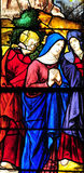 Triel sur Seine, France - april 3 2016 : church. Triel sur Seine, France - april 3 2016 : historical stained glass window in Saint Martin church royalty free stock photo
