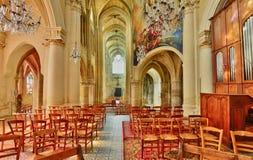 Triel sur Seine, France - march 1 2016 : church. Triel sur Seine, France - march 1 2016 : the gothic and renaissance Saint Martin church royalty free stock photo