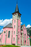Trient church in switzerland Stock Images