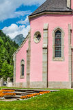 Trient church in switzerland Royalty Free Stock Images