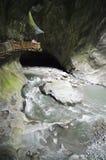 trient du gorges的瑞士 免版税库存照片