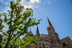 Trier Cathedral with blue sky Stock Image