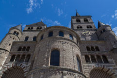 Trier Cathedral with blue sky Stock Photo