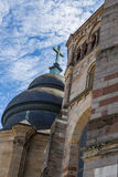 Trier Cathedral with blue sky Royalty Free Stock Images