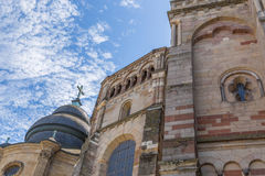 Trier Cathedral with blue sky Royalty Free Stock Image