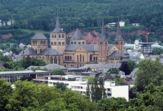 Trier Cathedral and Church of Our Lady, Germany. View on the Trier Cathedral and Church of Our Lady from Petrisberg Mount in Trier, Germany Royalty Free Stock Photo