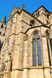 Trier Cathedral. Detail of Trier Cathedral or Dom St. Peter, the oldest church in Germany. In 326 AD, Constantine, the first Christian emperor, built a church to Stock Photo