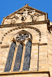 Trier Cathedral. Detail of Trier Cathedral or Dom St. Peter, the oldest church in Germany. In 326 AD, Constantine, the first Christian emperor, built a church to Stock Photos