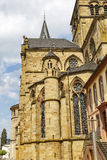 Trier Cathedral or Dom St. Peter. Is the oldest church in Germany. In 326 AD, Constantine, the first Christian emperor, built a church to celebrate the 20th Stock Images