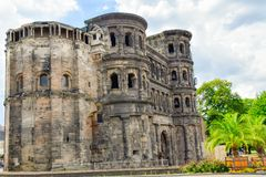 Trier city on the Moselle stock photography