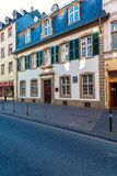 TRIER, GERMANY - APRIL 7, 2008: A young man walks  in front of t Royalty Free Stock Photos