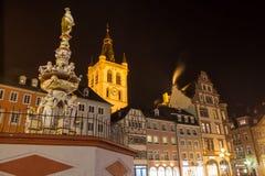 Trier germany hauptmarkt at night Royalty Free Stock Image