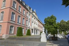 Prince-elector Palace in the center of Trier. Trier, Germany - July 06, 2018: Prince-elector Palace in the center of Trier stock photo